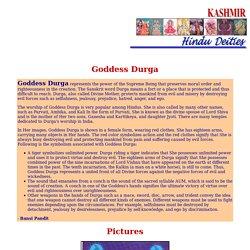Hindu Deities: Goddess Durga