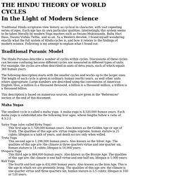 Hindu Theory of World Cycles