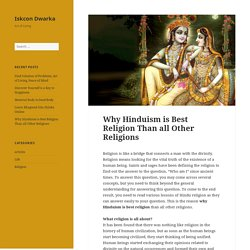 Know About Hinduism Religion and Spirituality That Make Best
