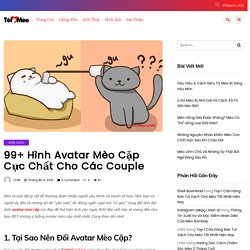 99+ Hình Avatar Mèo Cặp Cực Chất Cho Các Couple - Tôi Yêu Mèo
