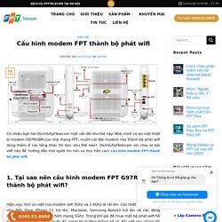 Cấu hình modem FPT thành bộ phát wifi