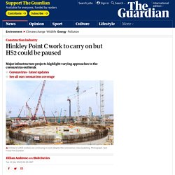 Hinkley Point C work to carry on but HS2 could be paused