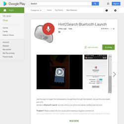 Hint2Search Bluetooth Launch