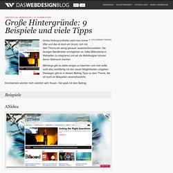 Große Hintergründe: 7 Beispiele und viele Tipps! inspiration, webdesign
