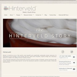Hinterveld. Luxurious timeless Mohair blankets, scarves and throws, meticulously crafted mohair products in South Africa