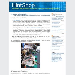 HintShop: avrdude -c buspirate