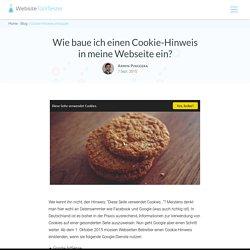 Cookie-Hinweis Leiste in eigene Webseite einbauen