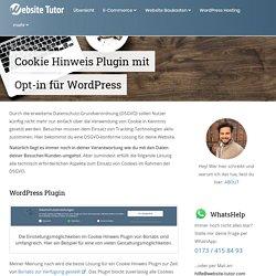 Cookie Hinweis Plugin mit Opt-in für WordPress - Website Tutor