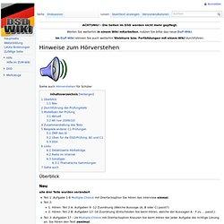 Hinweise zum Hörverstehen – DSD-Wiki