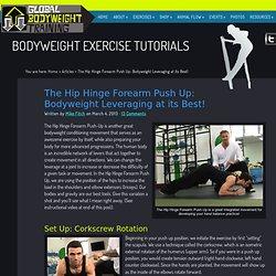 Hip Hinge Forearm Push-Up