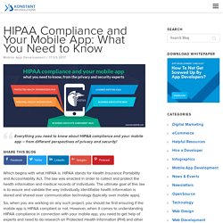 HIPAA Compliance and Your Mobile App: What You Need to Know