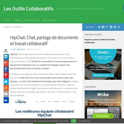 HipChat. Chat, partage de documents et travail collaboratif