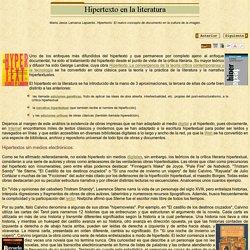 Hipertexto en la literatura