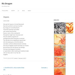 Ric Dragon v2 » Blog Archive » Hippies