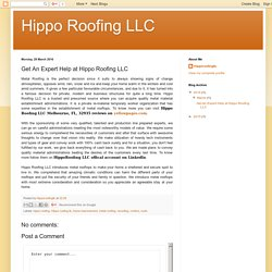 Get An Expert Help at Hippo Roofing LLC