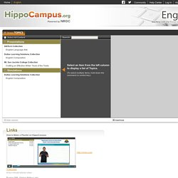 HippoCampus - Homework and Study Help - Free help with your algebra, biology, environmental science, American government, US history, physics and religion homework