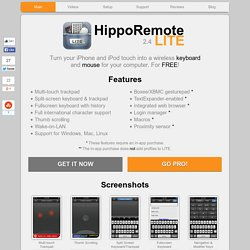 LITE — Free Wireless Keyboard and Mouse for iPhone and iPod touch