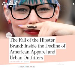 The Fall of the Hipster Brand: Inside the Decline of American Apparel and Urban Outfitters