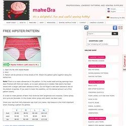 Hipster Pattern for Free - Make Bra — Make Bra