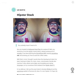 Hipster Stack by Lee Martin