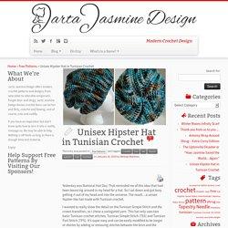Unisex Hipster Hat in Tunisian Crochet - Jarta Jasmine Design