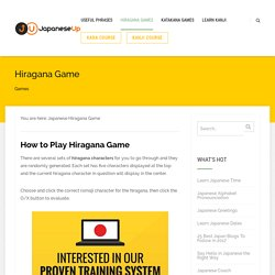 Japanese Hiragana Game, Learn Japanese Hiragana Game Online