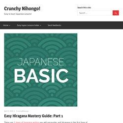 Easy Hiragana Mastery Guide: Part 1 – Crunchy Nihongo!