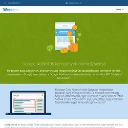 Google AdWords és egyéb PPC hirdetések menedzselése