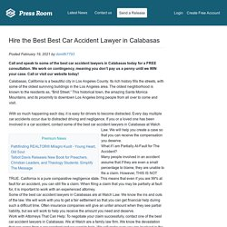 Hire the Best Best Car Accident Lawyer in Calabasas