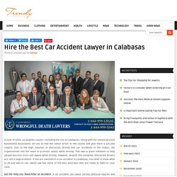 Hire the Best Car Accident Lawyer in Calabasas