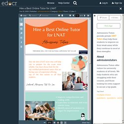 Hire a Best Online Tutor for LNAT