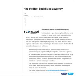 Hire the Best Social Media Agency