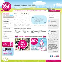 Car Hire Club | UK Leading Car Sharing Club | City Car Club