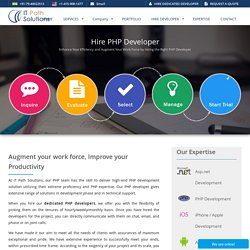 Hire Dedicated PHP Developers For Your Projects