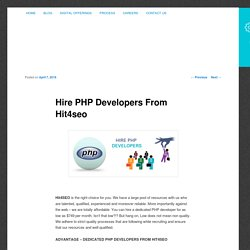 Hire PHP Developers From Hit4seo