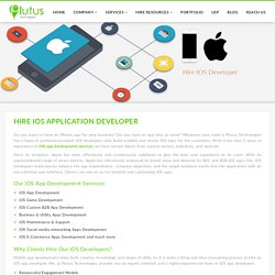 Hire iOS App Developers for your iPhone & iPad apps