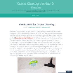 Hire Experts for Carpet Cleaning