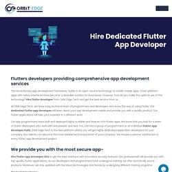 Hire Flutter Developers I Hire Flutter App Developers