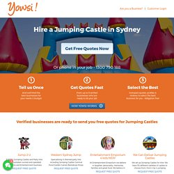 Jumping Castle Hire in Sydney at Yowsi.com.au