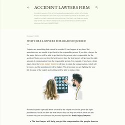 Why hire lawyers for brain injuries?
