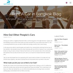 Book top cars on rent in Bangkok
