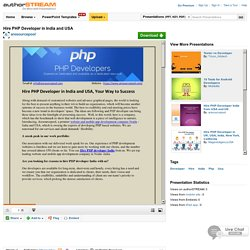 Hire PHP Developer in India And USA