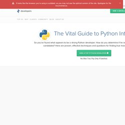 10 Best Freelance Python Developers for Hire in October 2016