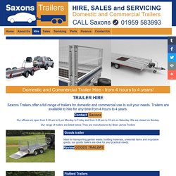 Hire - Saxons Trailers