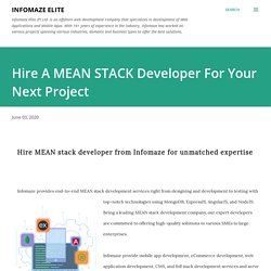 Hire a MEAN STACK Developer for your Next Project