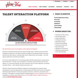 What is HireVue? Talent Interaction Platform