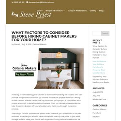 Steve Priest, cabinet maker, Based in Worcester