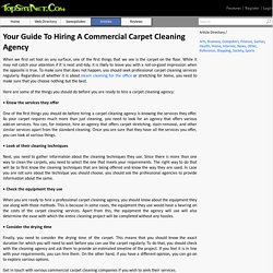 Your Guide To Hiring A Commercial Carpet Cleaning Agency