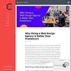 Why Hiring a Web Design Agency is Better than Freelancers