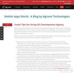 Smart Tips for Hiring iOS Development Agency